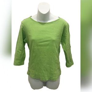 Lilly Pulitzer Lime Green 3/4 Sleeve Basic T-Shirt